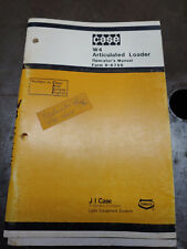 CASE W4 ARTICULATED LOADER OPERATORS MANUAL FORM 9-6766