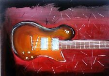 Beautiful Guitar acrylic painting on thick canvas