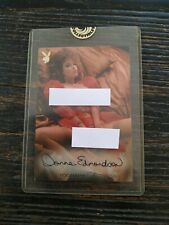 Playboy's Playmate of the Year Autograph Signature Jumbo Card Donna Edmonson TB