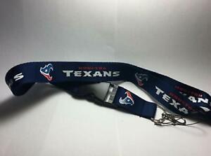 Houston Texans Lanyard ID Badge Key Chain Clip Face Mask Holder Strap Saver New