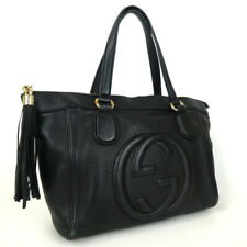 Authentic GUCCI 282307 Soho tassel charm Tote Bag leather[Used]