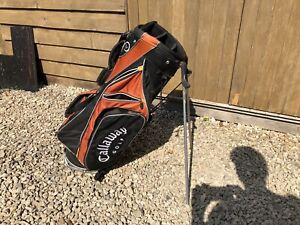 Callaway 6 Way Golf Club Bag Black And Orange