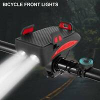 New Bike Front Light Alarm Bell Phone Horn External/holder Flashlight Bicycle AU