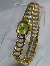 WITTNAUER LADIES CRYSTAL STAINLESS STEEL GOLD TONE SWISS QUARTZ  WATCH