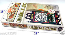 """VINTAGE 1968 WALL CLOCK CONSTRUCTION KIT """"DO YOURSELF"""" AVALON AC 120V COLONIAL"""