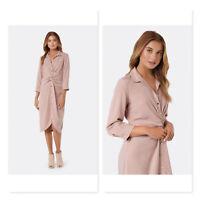 FOREVER NEW Denim | Womens Freya Twist Front Shirt Dress [ Size AU 6 or US 2 ]