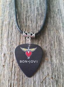 JON BON JOVI logo Guitar Pick plectrum GLAM ROCK Band Merch Necklace Jewellery