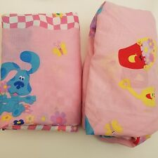 BLUES CLUES Pink Twin Sheets Fitted and Flat