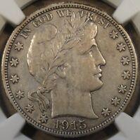 1915-S Barber Half Dollar NGC XF40
