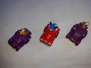 """Mickey Mouse and 2 Pluto  Friction  Cars  Disney 2"""" 2007"""