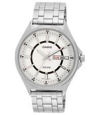 Reloj de Cuarzo Casio MTP-E108D-7AVF para Hombres Esfera Plateada Día Fecha Analógico-Ganga