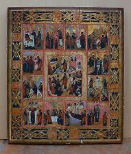 Alt-russische Ikone Christi Osterbild  2 Hälfte 19 Jh. Südrussland