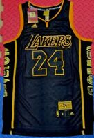 Kobe Bryant LA Lakers #24 Commemorative Black snakeskin jersey Golden Edition