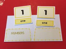 Montessori - Pre-Reading Series - Three Part Cards And Folio - Numbers