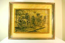 Vintage Frederic Remington Lucid Lines Photography on Glass Pima Indians Western