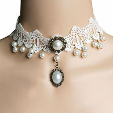 Crystal decorated white lace choker,sexy lace choker for women,fashion chocker