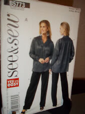 See & Sew 5773 Sewing Pattern Misses Shirt Pants Uncut Factory Folded