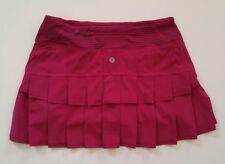 VEUC lululemon Run Pace Setter Skirt SZ 4 R Bumble Berry Skorts Shorts