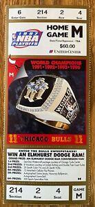 "1997 CHICAGO BULLS TICKETS HOME GAME ""m"" NBA PLAYOFFS Michael Jordan selling otr"