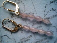 Amethyst Ohrhänger lang Gold 333, schöne Ohrhänger Gold 333 mit Amethyst 4 cm