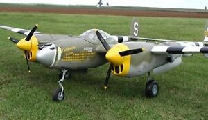 """Giant Scale P38 Lightning 114"""" Giant Scale RC Model AIrplane Printed Plans"""