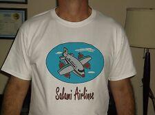 Salami Airlines 100% Cotton, Hanes, Crew Neck, White T-Shirts S,M,L,XL