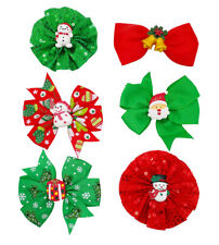 12X Christmas Pet Dogs Bow Collar Decorate Xmas Bowknot Slide Charm Bowtie Mixed