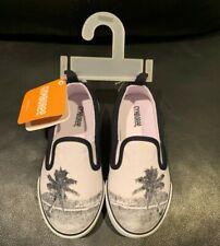 Nwt Gymboree Little Boys White Navy Blue Palm Island Shoes - Sz 10
