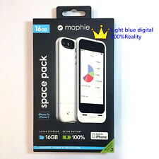 NEW Mophie space pack 1700mAH Battery Charger come with 16G memory white