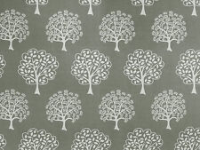 Eden gris E41 rideau soft furnishing tissu 100% coton arbres tree