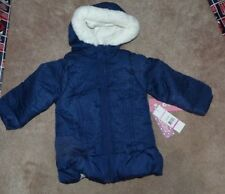 NEW WIPPETTE Kids Winter Jacket Hooded Coat Girls 2T Navy Blue White NEW NWT