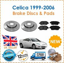 For Toyota Celica 1.8 VVTi 1999-2006 2 Front Brake Discs & Brake Pads Set 275mm