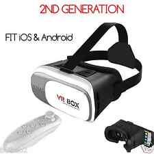 New VR 2.0 BOX Virtual Reality Goggles 3D Glasses Bluetooth Remote Controll