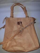 Vintage Elliott Lucca Genuine Leather Embossed Snake Skin 2-Way Tote Handbag