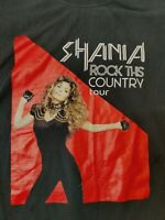 Shania Twain Rock This Country Tour Mens Adult 2 Sided T Shirt Size Large