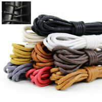 1Pair Round Waxed Dia Thin Shoelace Wild Shoe Lace For Short Boot Leather Shoes