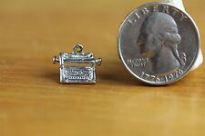 VINTAGE 3D TYPE WRITER CHARM Sterling Silver 925 GREAT ONE FOR BRACELET-S8100