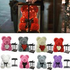 Rose Bear Flower Teddy Doll with Box Birthday Wedding Valentine Lovers Gift Foam
