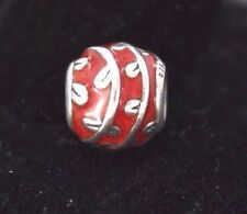 $50 Discontinued Pandora 925 ALE Red Enamel Vines Sterling Silver Bead Charm