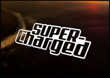 SUPER CHARGED JDM car vinyl decal vehicle bike graphic bumper sticker Funny