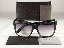 New Authentic Gucci Shield Brow Sunglasses White Havana Gray Gradient GG3782/S