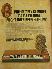 Walter Murphy, Hohner Clavinets, Full Page Promotional Ad