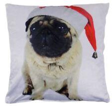 Weihnachten Mops Hund Rot Weiß samt Kissenbezug 43.2cm - 43CM C41