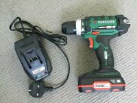 20v Cordless Parkside Drill Battery and Charger incl NEW 2020