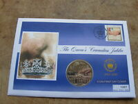 Isle of Man 2003 Crown coin cover (East Caribbean) - Queens Coronation Jubilee