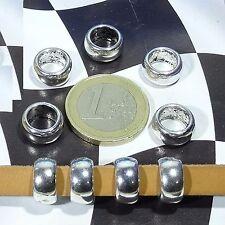 24 Tubi Grande  12x6mm  T334 Argento Tibetano Spacer Beads Tubi Perle Perline