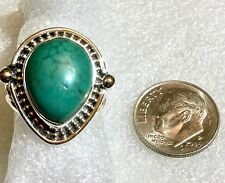 RING Tibetan Turquoise 925 Sterling Silver Ring Size 6 1/2