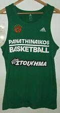 PANATHINAIKOS BASKETBALL TRAINING SHIRT BY ADIDAS LARGE2 JERSEY GREECE GREEK