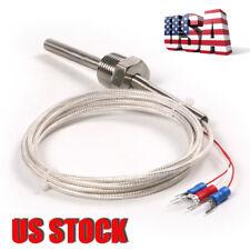 US  RTD Pt100 Waterproof Ohm Probe Sensor 1/2'' Thread with Lead Wire