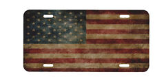 Distressed American Flag license plate, law enforcement, police, support